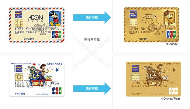 イオンゴールドカードのデザイン切替